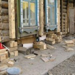 Ремонт фундамента дома из дерева