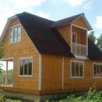 Деревянный дом из чего построен он?