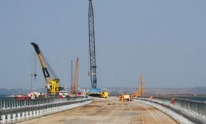 Появилась первая опора Керченского моста