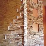 Ремонт квартир. Отделка стен камнем.
